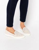 Miss KG Embellished Slip On Sneaker