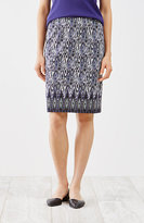 J. Jill Diamond-Print Knit Pencil Skirt