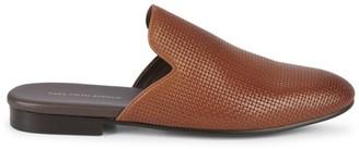 Saks Fifth Avenue Rubin Woven Leather Mules