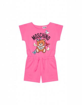 Moschino Butterflies Teddy Bear Short Suit Woman Pink Size 4a