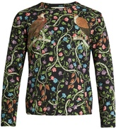 Gucci Birds-print cotton sweatshirt
