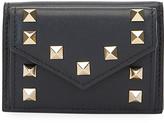 Valentino Garavani Rockstud Mini Vitello Napa Tri-Fold Wallet