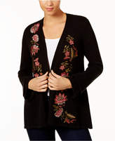 Style&Co. Style & Co Embroidered Cardigan, Created for Macy's