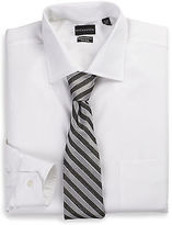 Rochester Non-Iron Tonal Solid Dress Shirt Casual Male XL Big & Tall