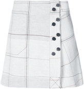 Derek Lam 10 Crosby grid print mini skirt - women - Viscose/Virgin Wool - 0