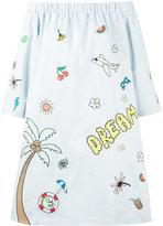 Mira Mikati printed off-shoulder dress - women - Cotton/Polyester - 38