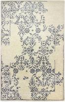 Bashian Brothers Bashian Gramercy Deconstructed Damask Ivory 5'6'' x 8'6'' Area Rug