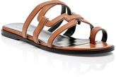 Pierre Hardy Calf and Patent Leather Kaliste Slip On Sandals