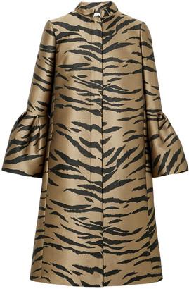 Carolina Herrera Fluted Tiger-jacquard Coat