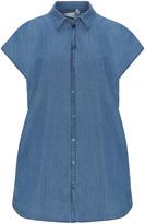 Junarose Plus Size Denim short-sleeved shirt