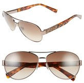 Jimmy Choo Women's 'Babas' 59Mm Aviator Sunglasses - Palladium