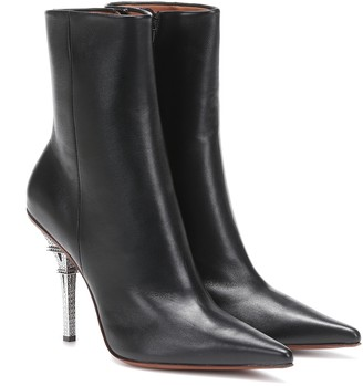 Vetements Eiffel Tower leather ankle boots