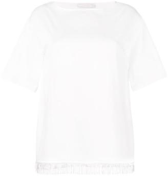 Fabiana Filippi fringed hem T-shirt