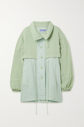 PARADISED Crinkled Cotton-gauze Jacket - Mint