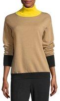 Rag & Bone Rhea Turtleneck Colorblocked Wool-Cashmere Sweater