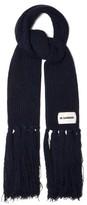 Jil Sander Oversized Cashmere-blend Scarf - Womens - Blue
