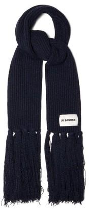 Jil Sander Oversized Cashmere-blend Scarf - Blue