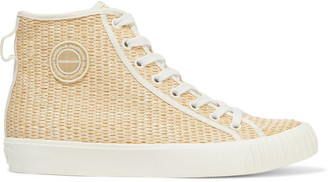 Zimmermann Appliqued Leopard-print Canvas High-top Sneakers