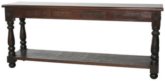 Moti Colonial Sofa Table 4 Drawers And 1 Shelve