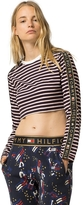 Tommy Hilfiger Collection Sport Stripe Cropped Tee