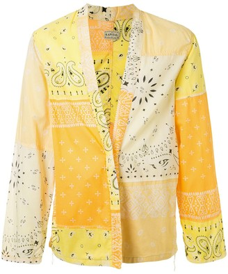KAPITAL Kakashi bandana patchwork shirt