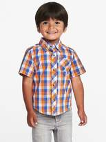 Old Navy Plaid Poplin Shirt for Toddler Boys