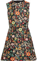 RED Valentino Jacquard Mini Dress - Black
