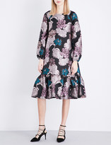 Co Floral brocade dress