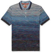 Missoni Slim-fit Space-dyed Cotton Polo Shirt - Blue