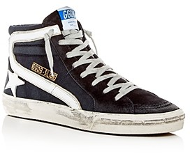 Golden Goose Unisex Slide Denim & Suede High-Top Sneakers