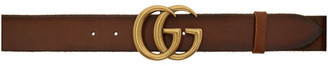 Gucci Brown Leather GG Belt