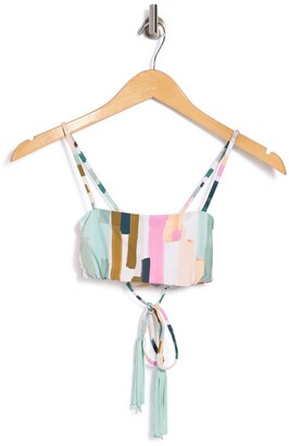 Bikini Lab Paint Bandeau Bikini Top