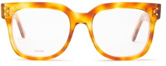 Celine Square Acetate Glasses - Tortoiseshell