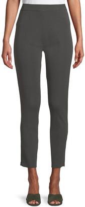 Misook Plus Size Knit Ankle-Zip Legging Pants