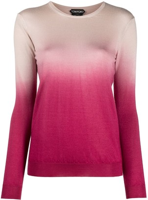 Tom Ford Ombre-Effect Fine Knit Jumper