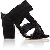 Sergio Rossi Women's Moulage Velvet Sandals-BLACK