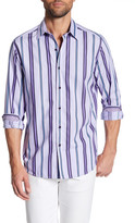 Robert Graham Glendora Striped Long Sleeve Tailored Fit Shirt