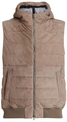 Herno Suede Hooded Gilet