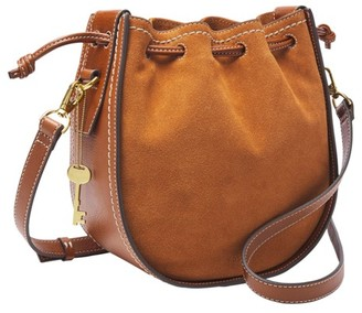 Fossil Palmer Drawstring Bag Handbags Caramel
