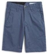Volcom Cotton Twill Shorts (Big Boys)