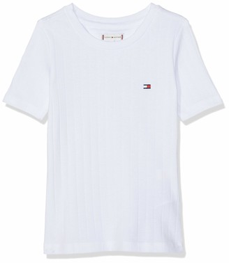 Tommy Hilfiger Girl's Solid Wide Rib S/s Tee T-Shirt