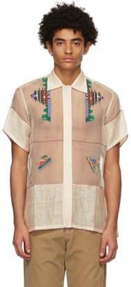 Bode Beige Pagoda Short Sleeve Shirt