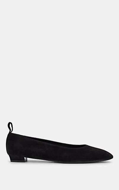 The Row Women's Lady Di Suede Ballet Flats - Black