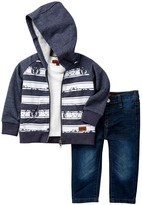 7 For All Mankind Hoodie, Short Sleeve Tee, & Pant 3-Piece Set (Baby Boys)