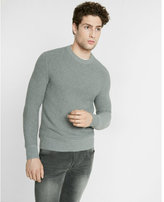 Express horizontal shaker knit crew neck sweater