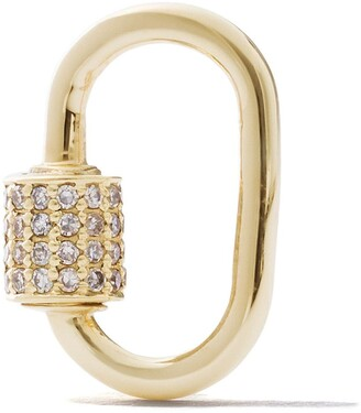 As 29 18k Yellow Gold Diamond Small Oval Carabiner