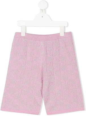 Gucci Kids GG metallic-threading shorts