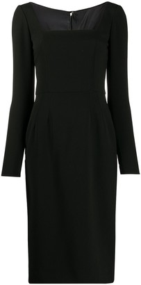 Dolce & Gabbana Square-Neck Midi-Dress