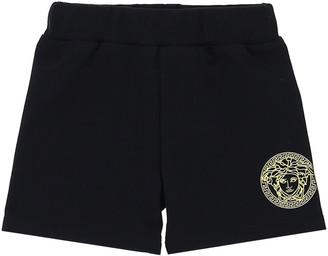 Versace Boy's Medusa Logo Pull-on Track Shorts, Size 12-36M