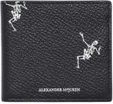 Alexander McQueen Dancing Skeletons Leather Classic Wallet